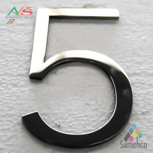 Metal letters by laser machine